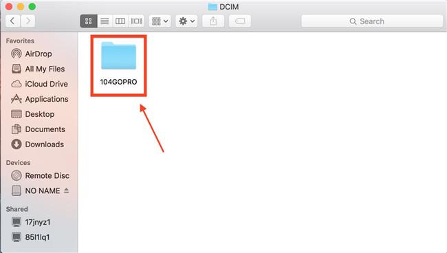 import gopro to mac