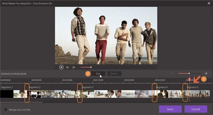 trim long video into numerous clips