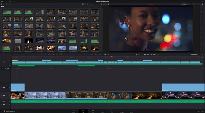 quik video editor app with davinci