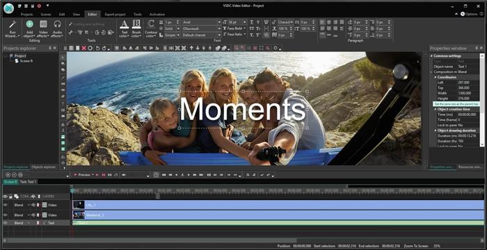 quik video editor with vsdc