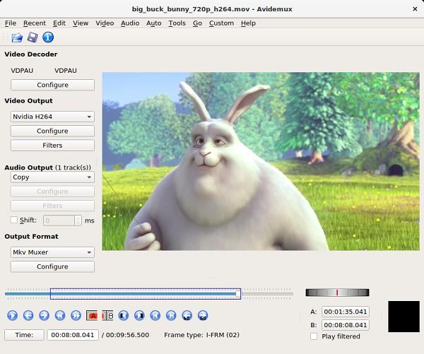 quik video editor mit Avidemux