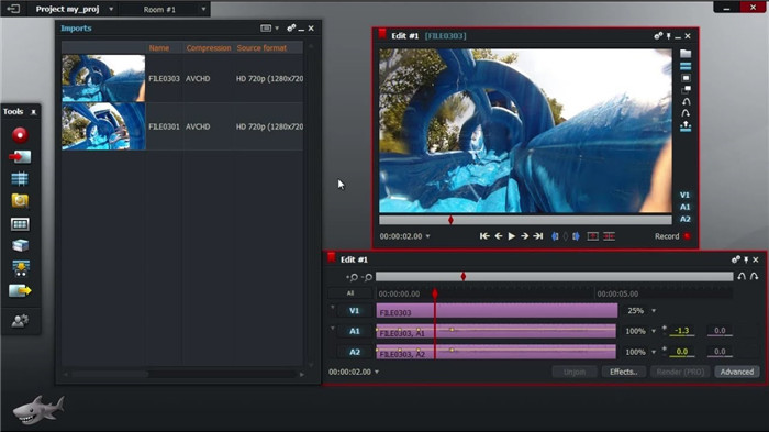 quik video editor with lightworks