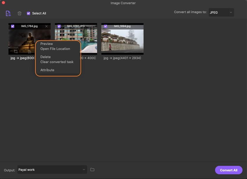 personalizar parâmetros da imagem
