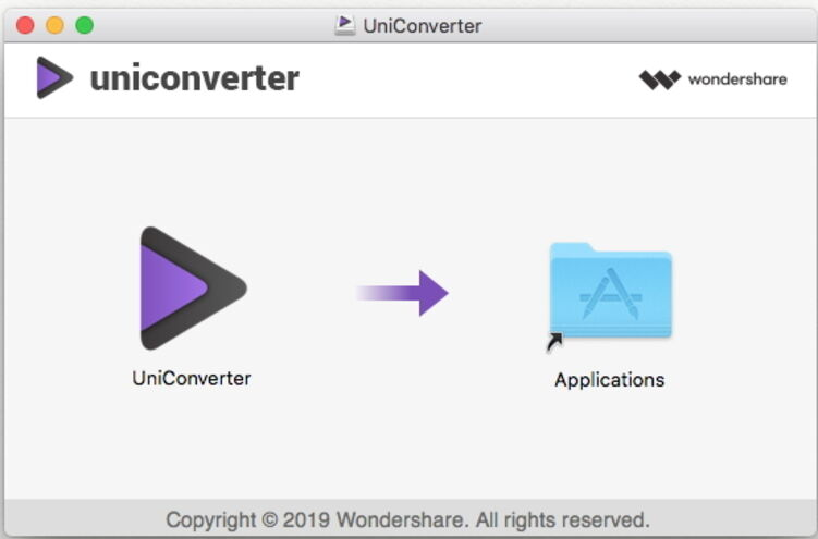 Install Wondershare UniConverter for Mac - install program on Mac successfully