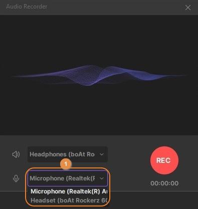 Mikrofon auswählen