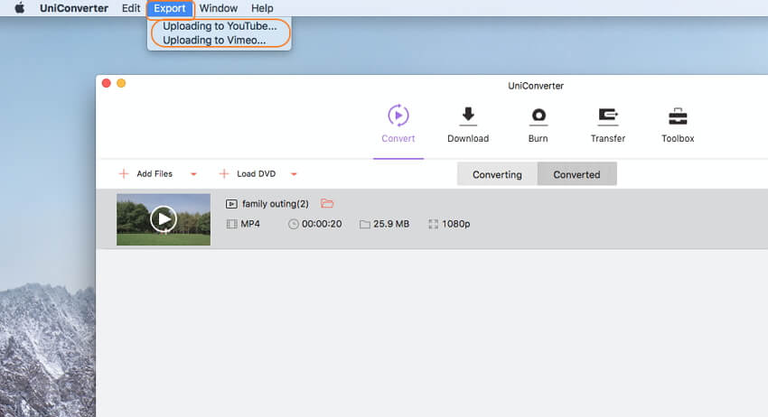 upload videos to youtube from mac