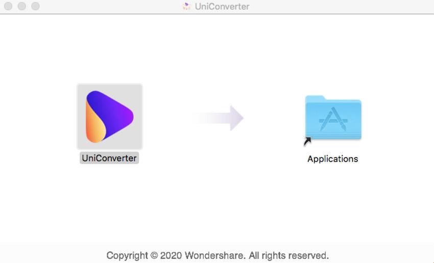 Installer Wondershare UniConverter pour Mac