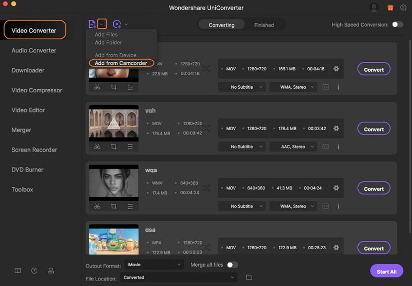 Dateien von einer Kamera auf einem Mac hinzufügen
