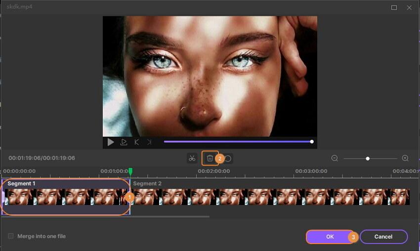 обрезать начало/конец видео - как редактировать видео