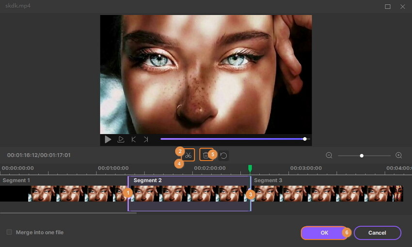 обрезать середину видео - как редактировать видео
