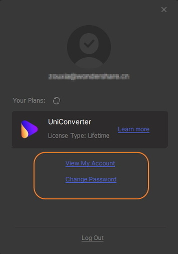 login Uniconverter com Wondershare ID
