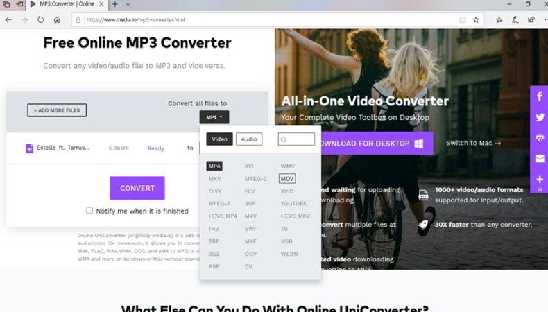 Convert YouTube to iMovie Online