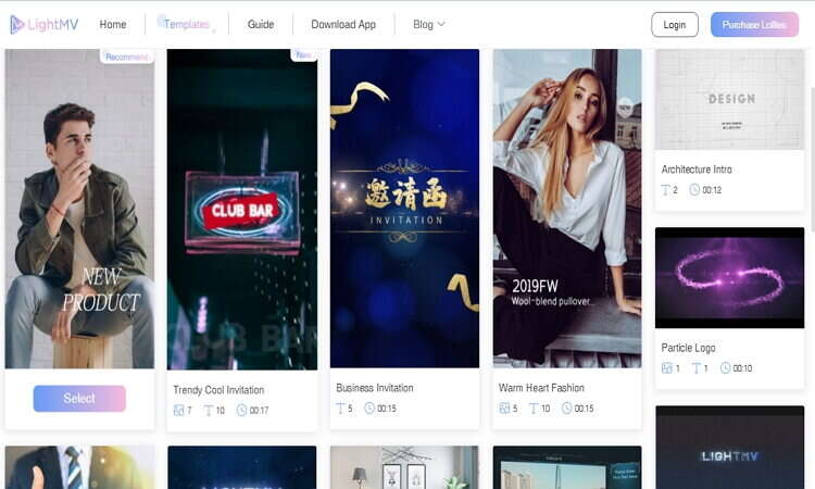 Online iMovie Alternativen zur Erstellung von Vorlagen - Lightmv