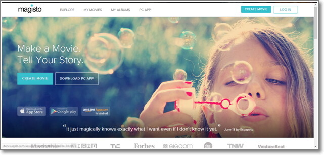 Alternativas on-line ao iMovie-Magisto