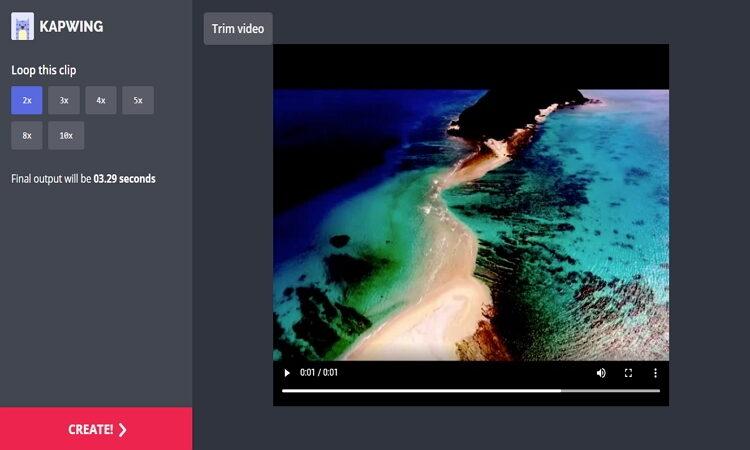 how to Make iMovie Loop video Online-Kapwing