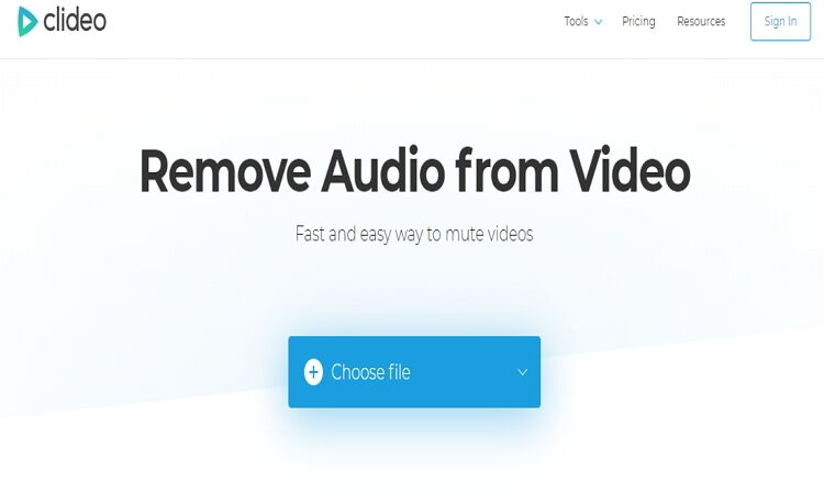 Audio Remover Tools-Clideo