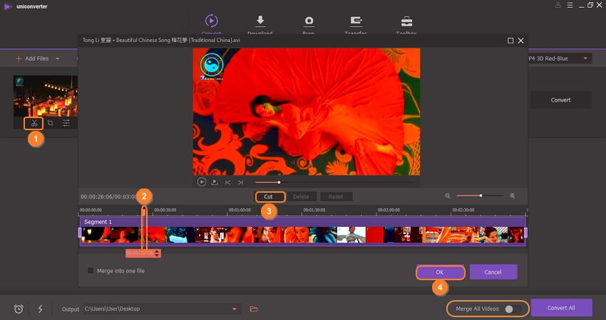 How to trim imovie file by Uniconverter