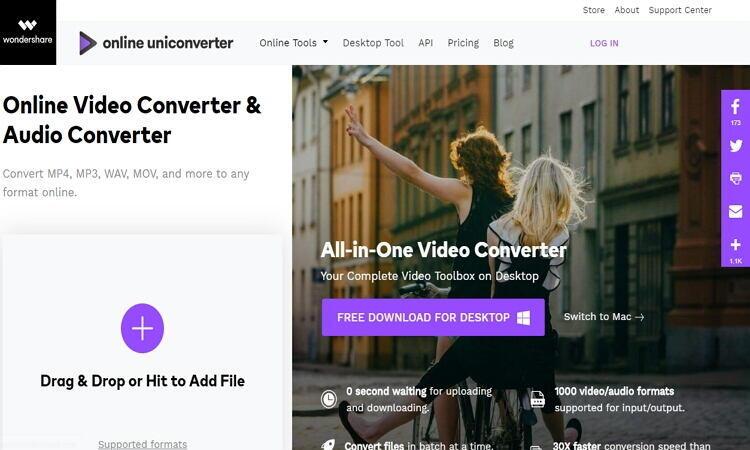 converter filme para imovie online com o Online UniConverter