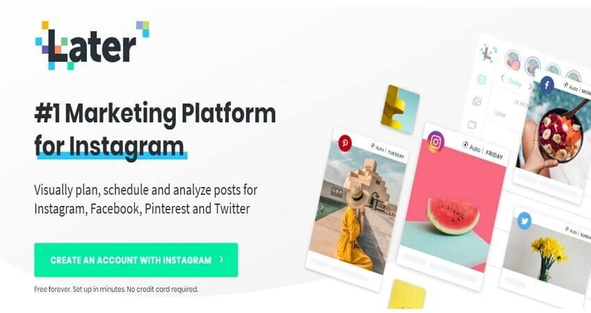 Carregar para Instagram através do Navegador - Later