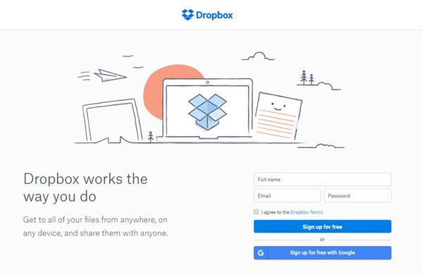 log in dropbox account