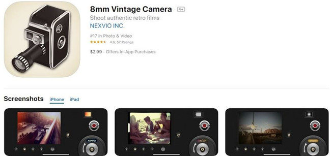 Câmera vintage de 8mm