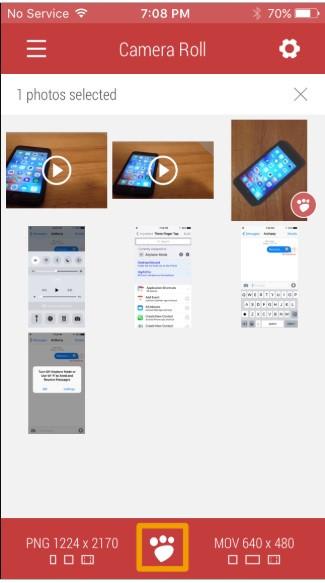 shrink photo iPhone save