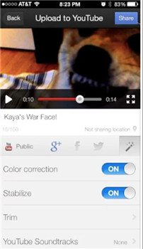 upload to youtube from iphone