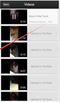 how to upload to youtube from iphone