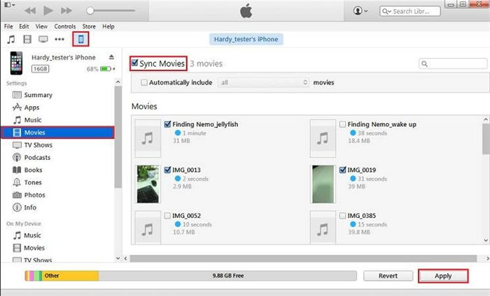 how to import video to iphone