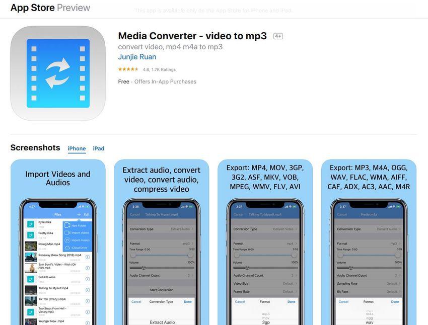 iphone audio format