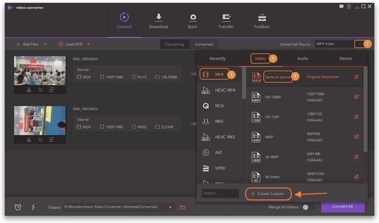 iphone video format converter