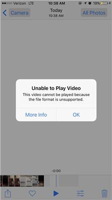 formato de arquivo de vídeo iphone