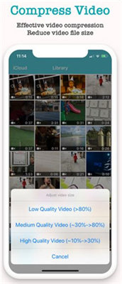 reduce video size iphone