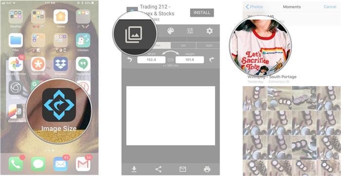 resize photo iphone