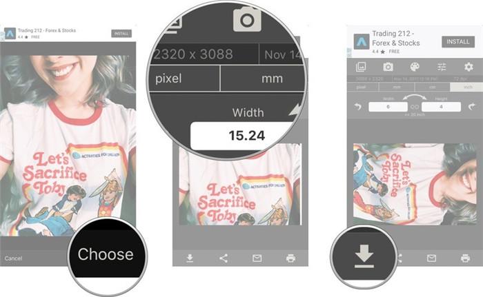 resize image iphone