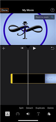 zoom iphone video after recording