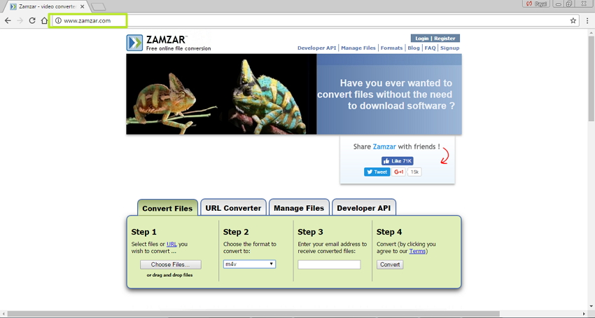 Online MP4 to M4V Converter Zamzar