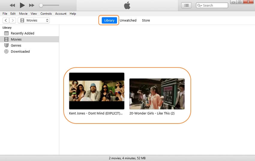 add videos to iTunes - step 3