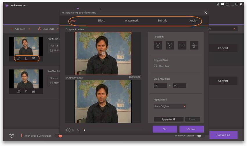 Edit M4V files on Windows