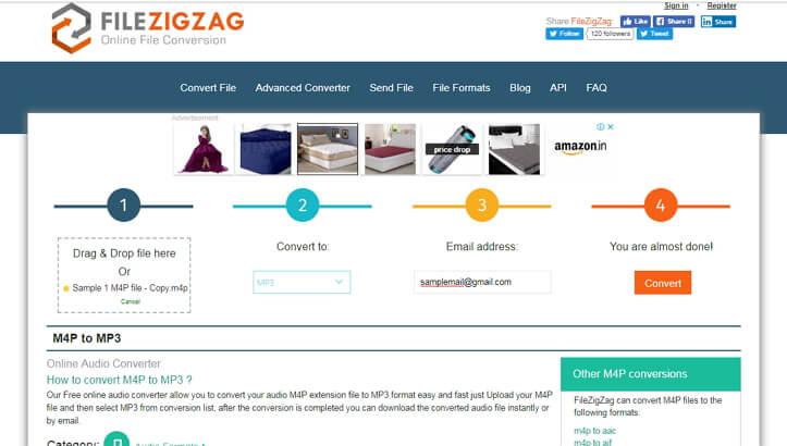 Conversor M4P online - FileZigZag