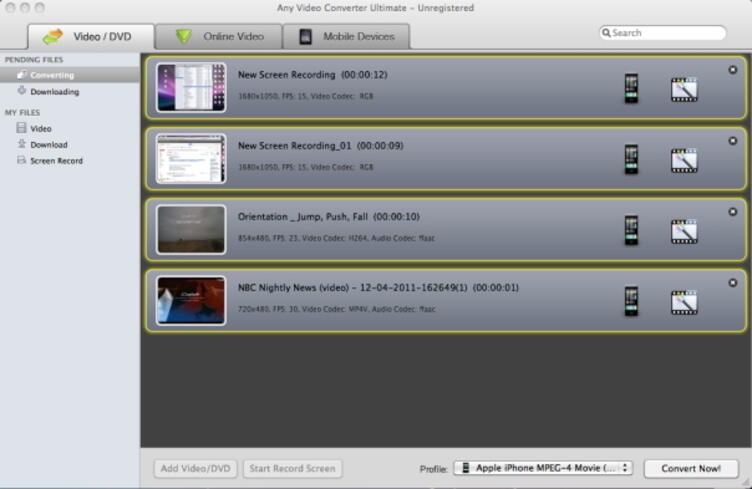 convertidor de video gratis para mac-any video converter para mac