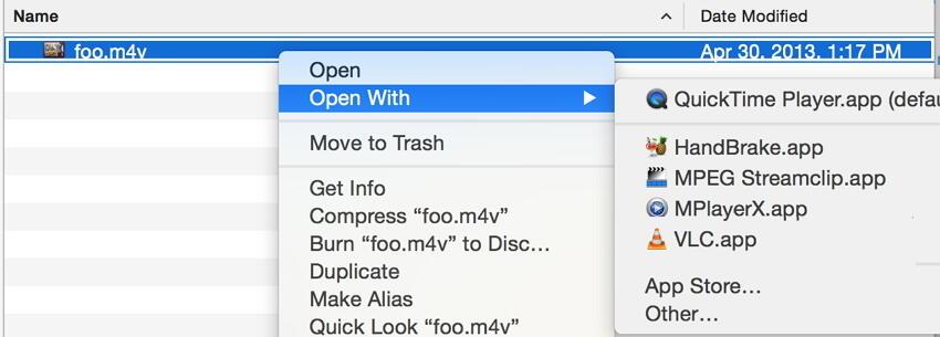 altere o player de vídeo padrão no Mac