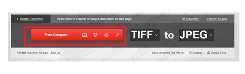 TIFF in JPEG online konvertieren