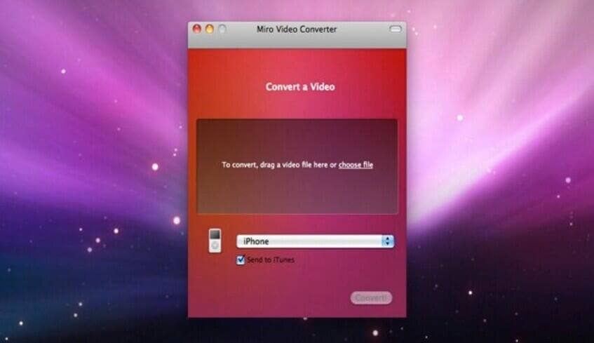 convertidor de video gratis para mac-miro video converter free