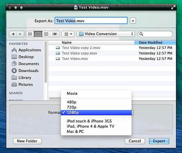 gratis video converter voor mac-quicktime