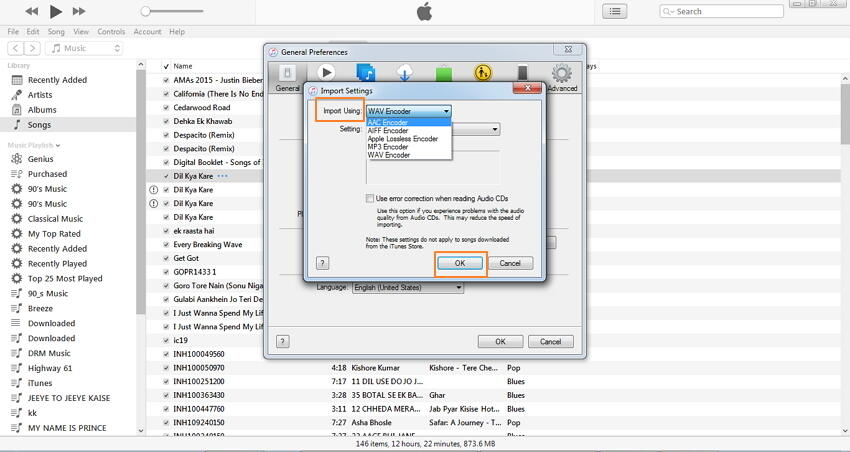 Convert songs that are already in your iTunes library