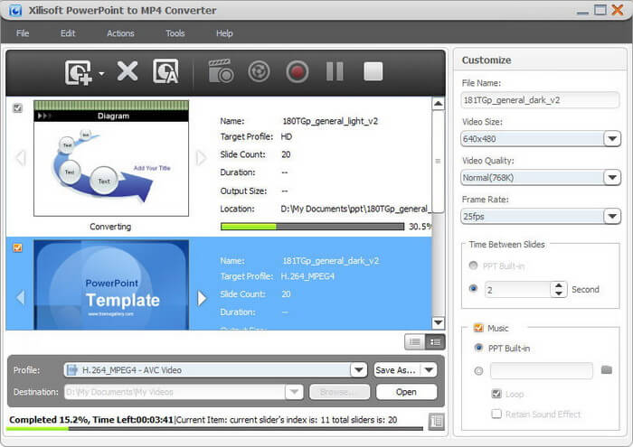 Xilisoft PowerPoint to MP4 Converter on Mac