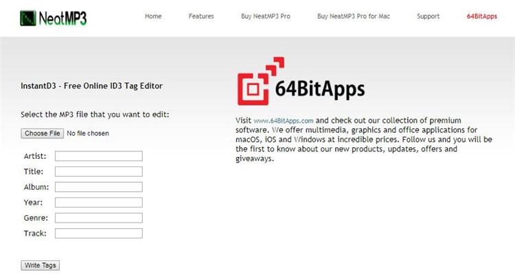 id3 tag editor online