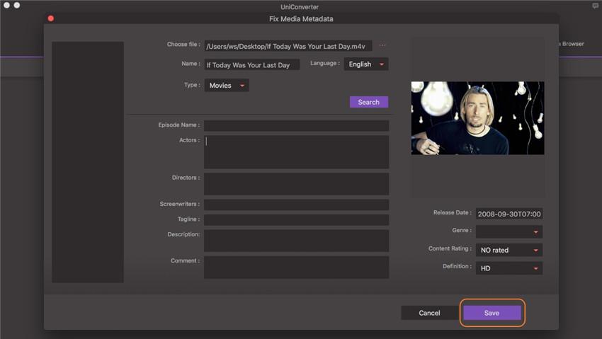 save metadata on music tag editor mac