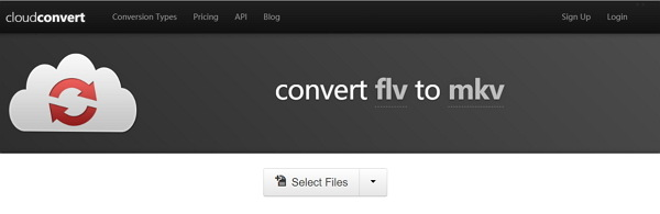 convert MKV to FLV online by Cloudconvert
